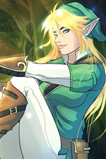 Preview iPhone wallpaper The Legend of Zelda, sun, game art