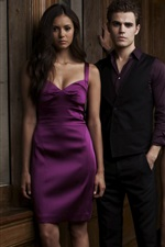 Preview iPhone wallpaper The Vampire Diaries, CW TV series