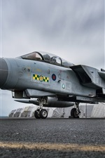 Preview iPhone wallpaper Tornado GR4 aircraft at airport, army fighter