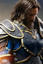 Preview iPhone wallpaper Travis Fimmel, Anduin Lothar, Warcraft 2016
