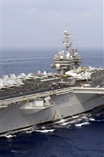 Preview iPhone wallpaper US Navy, American aircraft carrier, Japan Maritime Self-Defense Forces