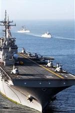 Preview iPhone wallpaper USS Essex, Navy, sea