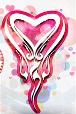 Preview iPhone wallpaper Valentine's Day, love hearts, art design