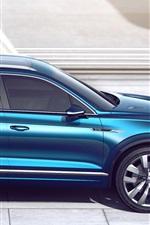 미리보기 iPhone 배경 화면 폭스 바겐 T-총리 GTE 개념 푸른 SUV 자동차 측면보기