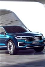 Volkswagen T-Prime-Konzept GTE blaues Auto