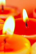 Preview iPhone wallpaper Warm candles light, fire and flame