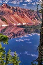 Preview iPhone wallpaper Watchman Peak, Crater Lake National Park, Oregon, USA