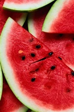 Watermelon slices, summer fruits