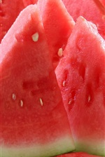Preview iPhone wallpaper Watermelon, summer food, sliced, juicy fruit