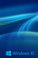 Preview iPhone wallpaper Windows 10 system, abstract blue background
