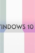 미리보기 iPhone 배경 화면 윈도우 10 시스템, 다채로운 줄무늬 배경