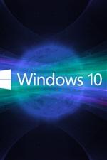 sistema Windows 10, logotipo, espaço