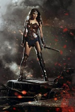Preview iPhone wallpaper Wonder Woman in Batman v Superman 2016