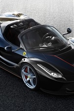 Preview iPhone wallpaper 2017 Ferrari LaFerrari Spider black supercar top view