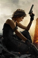 Preview iPhone wallpaper 2017 Resident Evil: The Final Chapter, Milla Jovovich