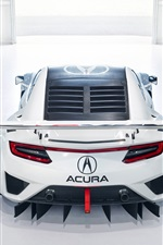 Preview iPhone wallpaper Acura NSX GT3 supercar back view