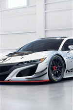 Preview iPhone wallpaper Acura NSX GT3 supercar
