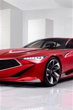 Acura Precision Concept carro vermelho