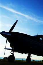 Preview iPhone wallpaper Aircraft, dusk, blue sky, airport