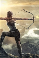 Preview iPhone wallpaper Archer Lara Croft in Tomb Raider