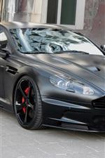 Preview iPhone wallpaper Aston Martin DBS black edition supercar