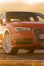 Preview iPhone wallpaper Audi A3 Sportback e-tron red car front view
