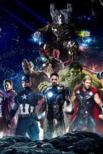 Preview iPhone wallpaper Avengers 3: Infinity War 2018