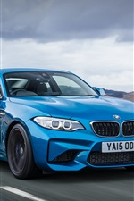 Preview iPhone wallpaper BMW M2 Coupe F87 blue car speed