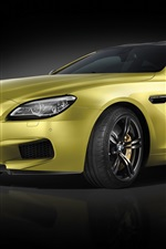 Preview iPhone wallpaper BMW M6 Coupe, gold color car