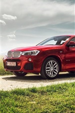 Preview iPhone wallpaper BMW X4 xDrive35i F26 red SUV car side view