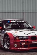 BMW race car, white and red