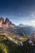 iPhone обои Красивый природный ландшафт, горы, ущелья, скалы, облака, солнце