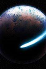 미리보기 iPhone 배경 화면 아름다운 공간, 혜성, 행성, 별