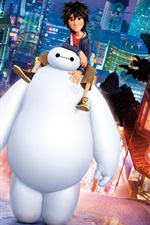 Preview iPhone wallpaper Big Hero 6, cartoon movie
