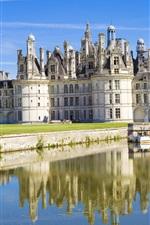 Preview iPhone wallpaper Chateau de Chambord, France, castle, lake