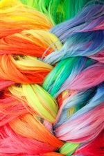 Preview iPhone wallpaper Colorful dyed hair braids