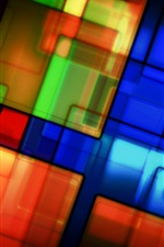 Preview iPhone wallpaper Colorful pattern, texture, stained glass, abstract pictures
