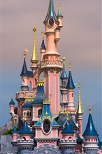 Preview iPhone wallpaper Disneyland in France, beautiful castle