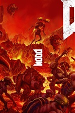 Preview iPhone wallpaper Doom PS4 game