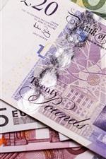 iPhone fondos de pantalla EURO moneda, el papel moneda