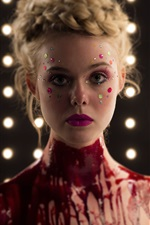 Preview iPhone wallpaper Elle Fanning in The Neon Demon 2016