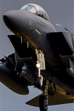Preview iPhone wallpaper F-15 fighter in sky