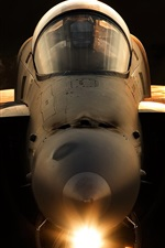 Preview iPhone wallpaper F-18A Hornet aircraft front view