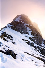 Preview iPhone wallpaper Falschkogel, Tyrol, Austria, mountains, snow, sun