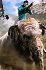 Preview iPhone wallpaper Far Cry 4, PS4 games, elephant