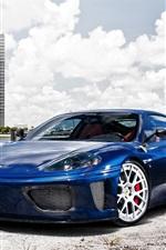 Preview iPhone wallpaper Ferrari 360 Modena blue supercar