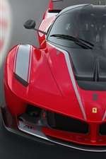 Ferrari FXX K red supercar front view