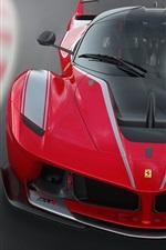 iPhone壁紙のプレビュー フェラーリFXX K赤いスーパーカーのフロントビュー
