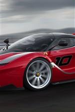 Preview iPhone wallpaper Ferrari FXX K supercar in high speed