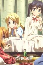 미리보기 iPhone 배경 화면 침실에 다섯 애니메이션 소녀
